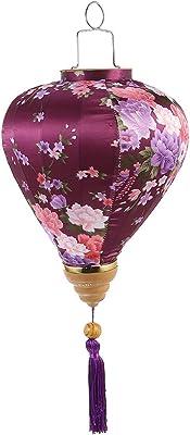 BESPORTBLE Lampion en soie vietnamienne vintage Lanterne en soie orientale Lampe chinoise pour mariage, anniversaire, intérieur, jardin, Halloween, Noël Décoration