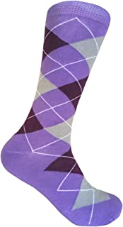 Men's Groomsmen Wedding Party Events Gala Collection Argyle Dress socks