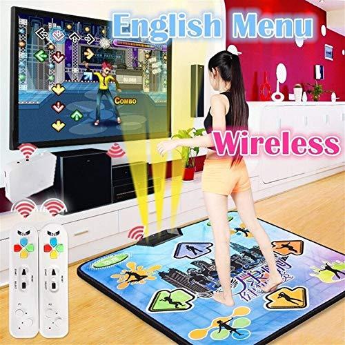 Gu3Je Antideslizante del Paso de Baile del bailarín de cojín Manta for PC con USB C1 for la televisión y la computadora Danza MatEnglish Menú for PC y TVWireless Dance Mat ( Size : 93x81cm )