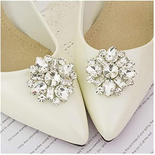 160174eed Casualfashion Shining Crystal Shoes Clip Women s High Heel Rhinestone Shoe  Buckle Decoration