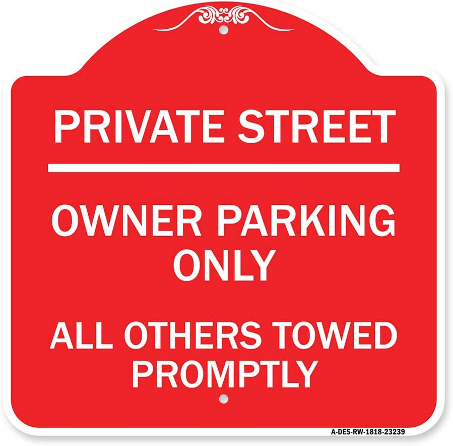 SignMission San Jose Mall Designer Series Sign - Private Street Parking Cash special price Owner