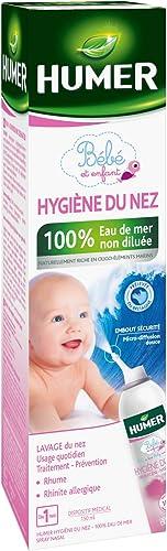Humer - Spray Hygiène du nez Nourrissons/Enfants - 100% eau de mer - Excellente tolérance - 150ml