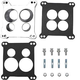 KIPA Carburetor Adapter Manifold 2696 Four-Hole Square-Bore to Spread-Bore Replace for Edelbrock Quadrajet Thermo-Quad Man...