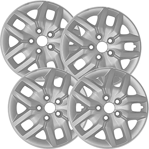 17 inch Hubcaps Best for 2014-2018 Dodge Caravan - (Set of 4) Wheel Covers 17in Hub Caps Silver Rim Cover - Car Accessories for 17 inch Wheels - Bolt On Hubcap, Auto Tire Replacement Exterior Cap