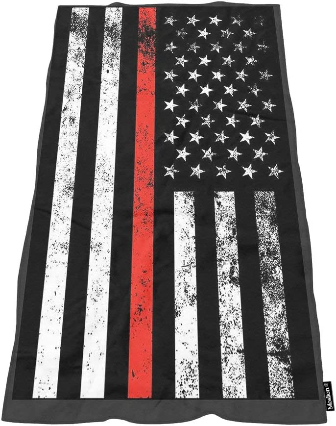 Moslion Comfy Bath Towels Fire 2021 Fighter Line B price Soft Flag Red Thin