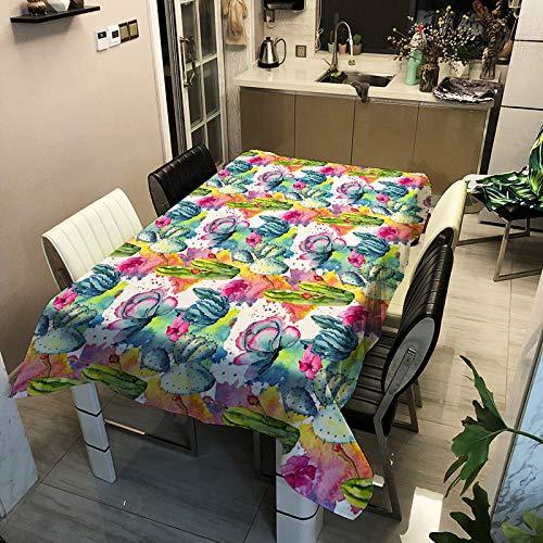 SHANGZHAI Pflanze Blumenserie, Polyester Bedruckte Tischdecke, Haushalts Deko Tischdecke, wasserdicht und Antifouling ZB2128-21 140x180cm