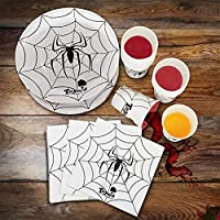 Toyard Halloween Paper Plates Napking Cups Disposable Dinnerware Set