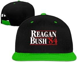 VISIONAA Reagan Bush 84 White Baseball Hats Unisex Adjustable Flat Bill Visor Hip-Hop Cap