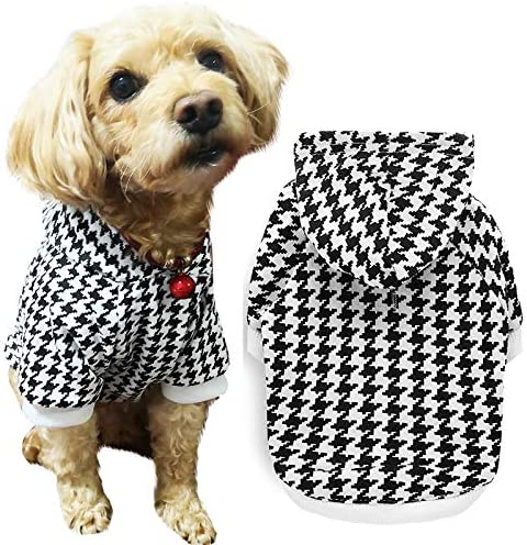 Dog Hoodie for Dogs Soft Dog Sweater Dog Shirt with Leash Hole and Pocket Pet Hoodie Dog Clothes product image