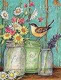 Lang–Adressbuch–'Blume Gläser,' Artwork von Susan Winget–Die flache, 3Ring...