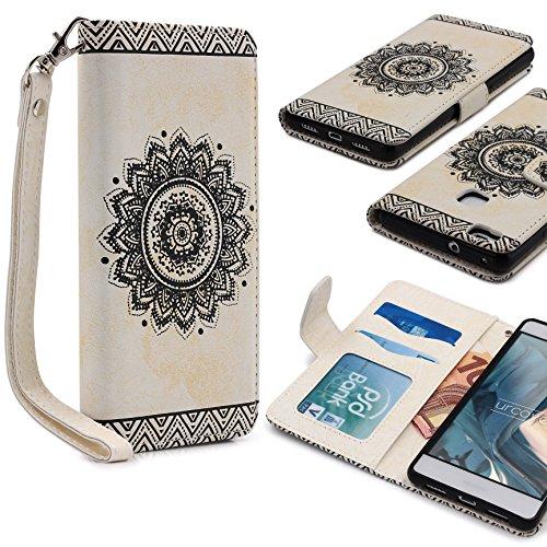 Urcover Huawei P9 Lite | Funda Carcasa Lotus Pattern | Blanco | Case Cover Protección Smartphone Móvil Accesorio