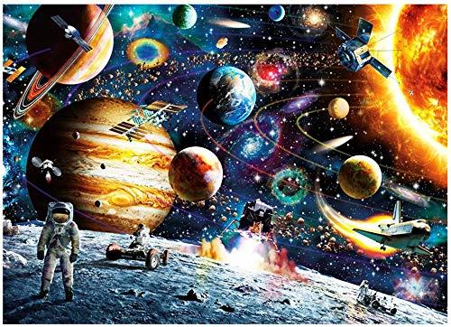 HUADADA Puzzle 1000 Teile Puzzle Star Wars 1000 Teile Herausforderung Puzzle 1000 Teile Weltraum Puzzle für Erwachsene 1000 Teile Das Sonnensystem Planeten im Weltraum das Puzzlespiel Jigsaw Puzzle