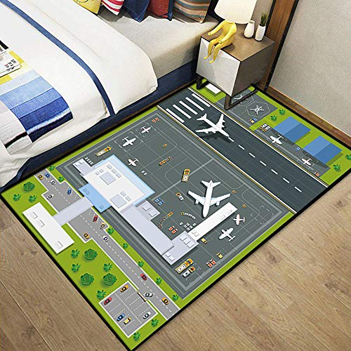 Hopscotch Kids Play Mat, Area Rug Soft Flannel Children Game Safe Area Carpet Great for Educational & Fun with Toys Throw Rug for Living Room Bedroom Nursery Best Shower Gift