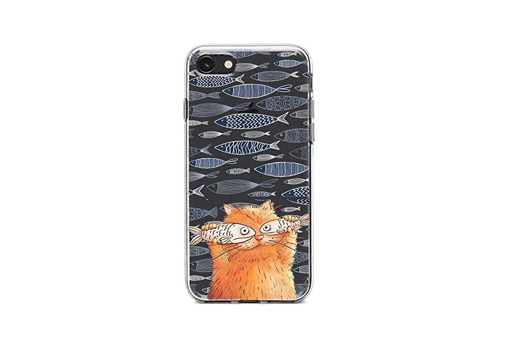 Koldan iPhone 5 Lovely 5s SE Pretty iPhone 8 Case 7 6 Cute 6S Plus 8 Food 7 6 Animal 6s X Funny XR Fish XS Max Ginger Cat Samsung Note 9 Silicone S10 5G Cover S10 S9 Case S8 Plus SaO144