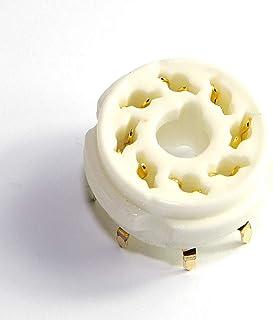 Cary 4pcs 8pin PCB Mount Gold Ceramics Vaccum Tube Socket 6l6 El34 Kt88 6550 6sn7 Diy