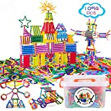 Juboury 1054Pcs Building Toy Building Blocks Bars Different Shape Educational Construction Engineering Set 3D Puzzle, Interlocking Creative Connecting Kit, Great STEM Toy for Both Boys and Girls