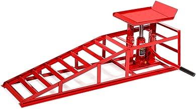 Stark Auto Ramp Low Profile Car Lift Service Ramps Truck Trailer Garage Automotive Hydraulic Lift Repair Frame (Red)