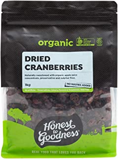 Honest to Goodness Organic Dried Cranberries,
