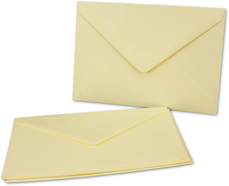 250 hochwertige Umschläge DIN DIN DIN B6 176 x 120 mm    Farbe Vanille - Creme, Naßklebung mit Spitzklappe 250 Stück B079P57B4T | Große Klassifizierung  9b42c7