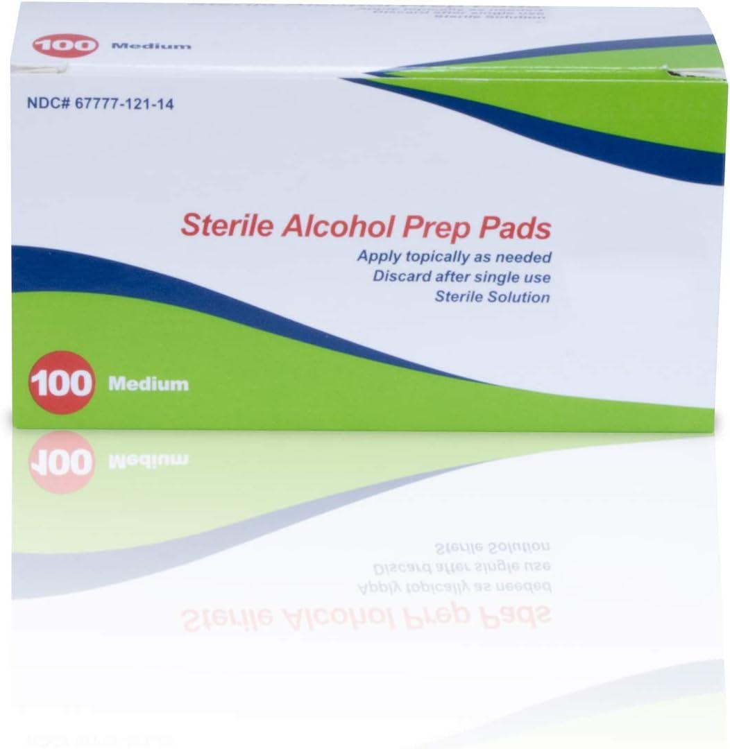 Sterile Alcohol Fashionable Prep Pad Classic Case 2000 Medium