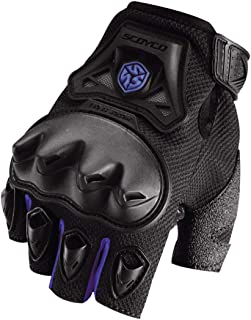 BRHFRBJE Motorcross Off-Road Racing Gloves Summer Half Finger Moto Gloves Breathable Motocross Gloves