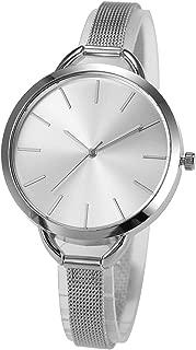 Wrist Watch Lady Women Minimalist Quartz Slim Stainless Steel Band Quartz Analog