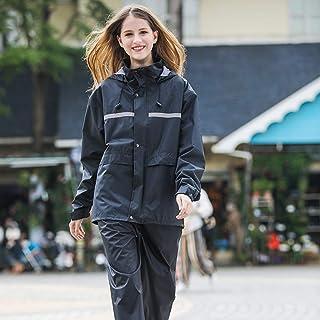 Ponchos for women Raincoat Rain Pants Suit Waterproof Split Rain Jacket Adult Battery Car Rainwear Hiking Riding Takeaway Rain Coat Womens