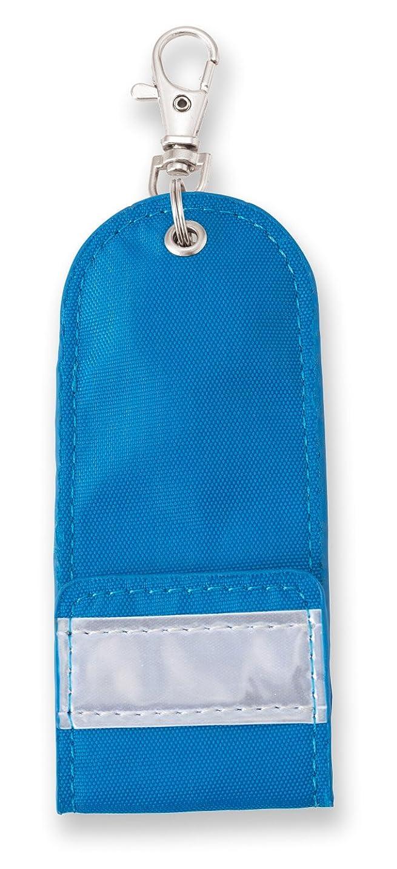 ドアミラーブームウッズアスカ リール付き目隠しキーケース KCV01B ブルー 反射板つき