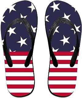 Comfortable Beach Flip Flops Mens Womens EVA Non-Slip Beach Sandals American Flag Holiday Travel Flip Flops