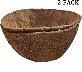 14 inch Coco Liner for planters, 2PCS Round Replacement Plant Basket Liners Coco Fiber Liner for Hanging Basket (14 inch Round)