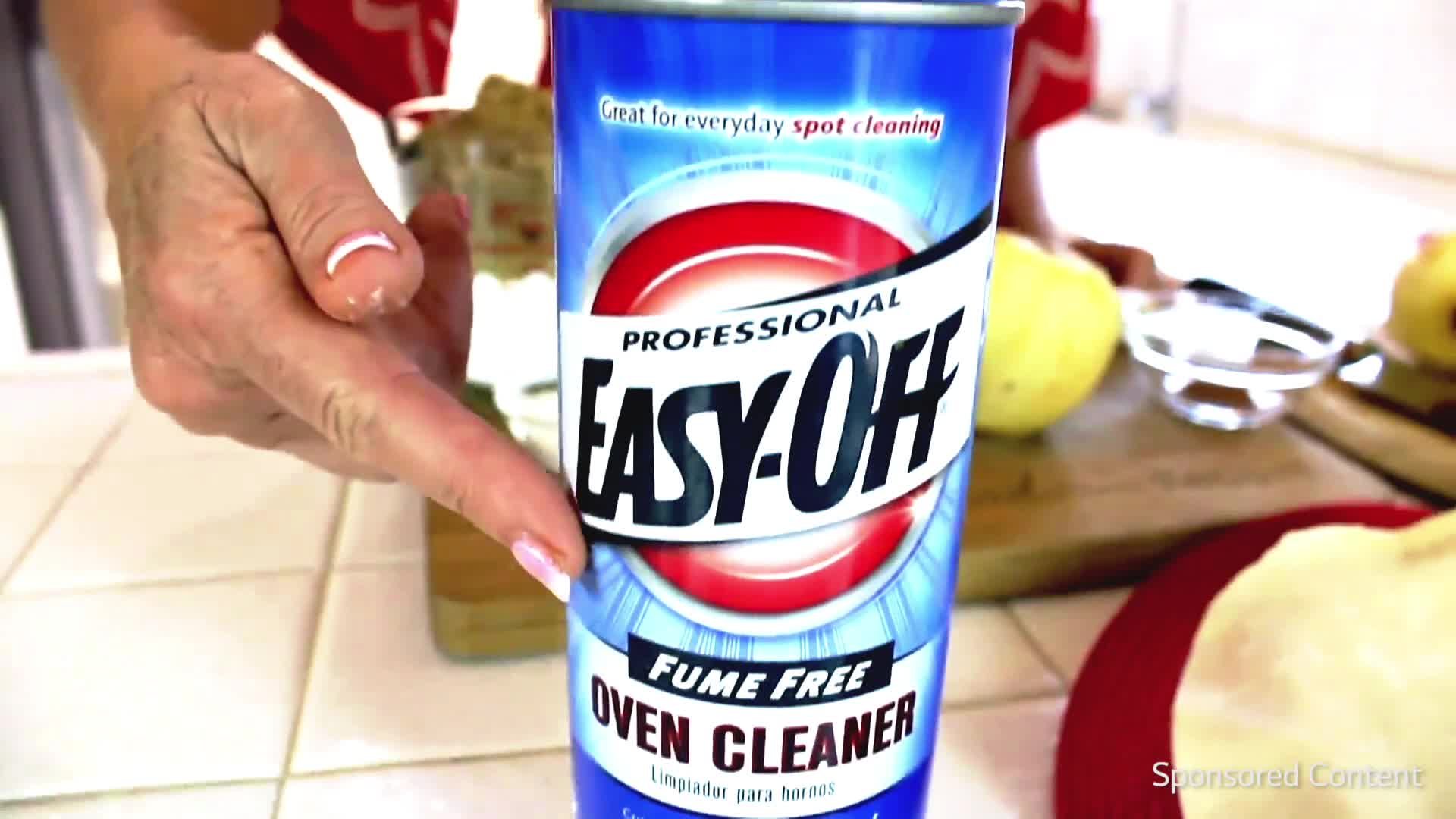 Oven cleaner for the burnt on stains