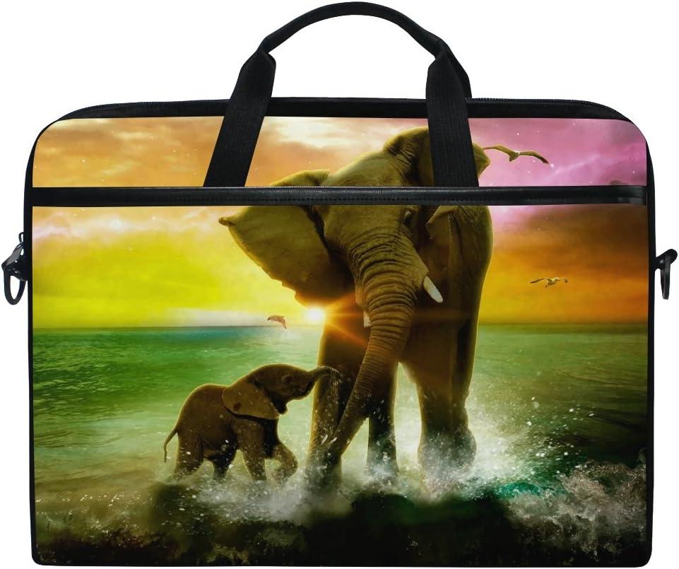 JSTEL Elephant Sea Sunset Galaxy Bag C Max 80% Discount is also underway OFF Laptop Shoulder Messenger