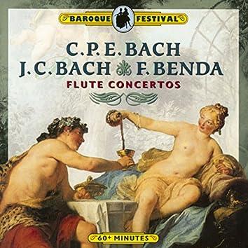 C.P.E. Bach, J.C. Bach & Benda: Flute Concertos