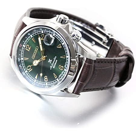 "Amazon.com: Seiko Prospex""Alpinist"" Compass Green Dial Sapphire Glass  Leather Watch SPB121J1: Watches"