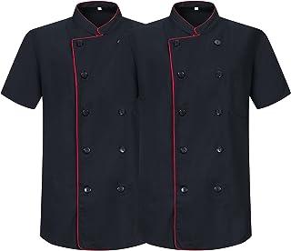 MISEMIYA Men's Pack*2 Pcs - Chaqueta De Cocinero 8421b Chef Jacket
