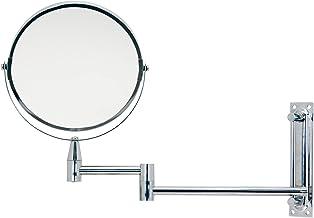 Mimo Style Espelho de Aumento Articulado Para Parede Ampliação de 5x, Extensível Para Banheiro e Bancadas, Acabamento Crom...
