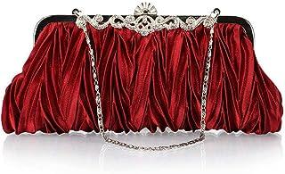 Clutch Bag, Women's Classic Pleated Wedding Bag Diamond Dinner Banquet Bag Evening Handbag Fashion