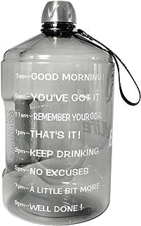 BuildLife 1 Gallon Water Bottle Motivational Fitness...
