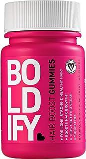 BOLDIFY Biotin Gummies for Healthy Looking Hair Growth (5000 mcg) - Vegan & Sugar Free Gummies, Natural Hair Vitamins for ...