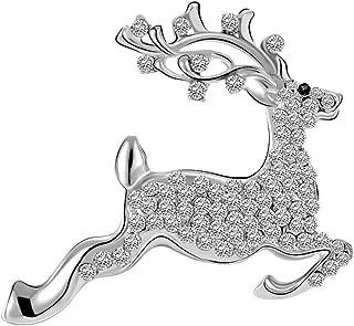 Stunning Reindeer Pearl Rhinestone Christmas Deer Pin Brooch
