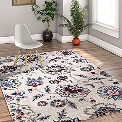 "Minaret Trellis Light & Charcoal Grey Vintage Moroccan Lattice Modern Geometric Area Rug 8 x 10 ( 7'10"" x 9'10"" ) Neutral Shabby Chic Thick Soft Plush Shed Free"