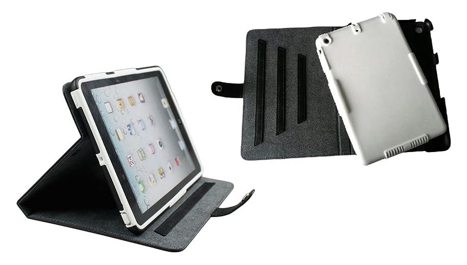 Bear Motion iPadMINI3IN1BKWH Brazilian Buffalo Hide Leather Dual Protection Folio Stand Cover Case for iPad Mini 1/2/3