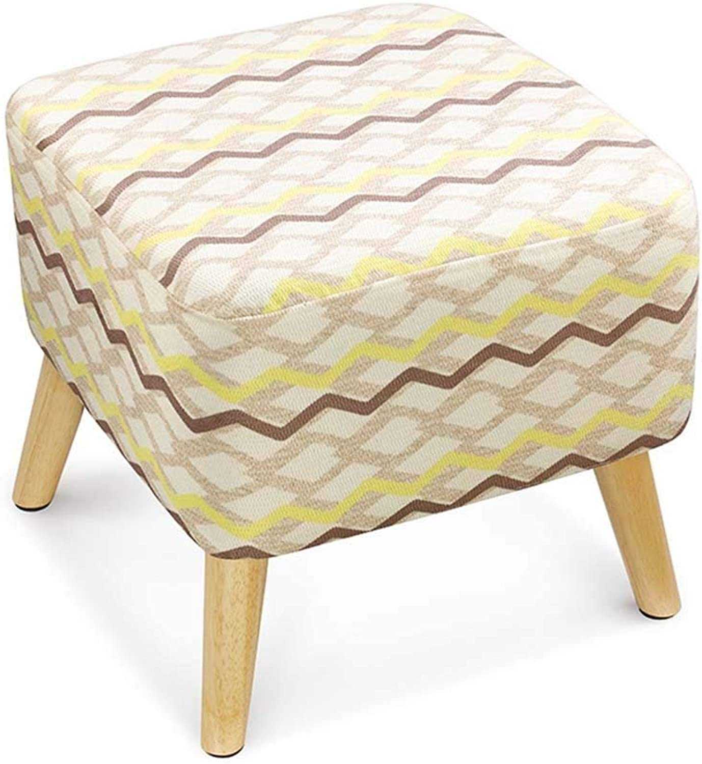 QTQZ Brisk- Solid Wood Creative Home Sofa Stool Living Room Changing shoes Stool Fashion Adult Square Stool Cloth Sofa Stool (Multiple colors Available) (color  2)