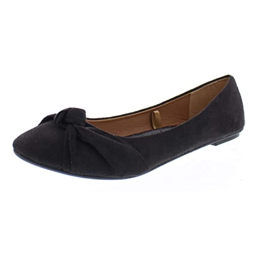 fa7162dc21 Inez Faux Suede Pointy Toe Flats for Women,Comfort Arch Support Shoes,Dress  Flat