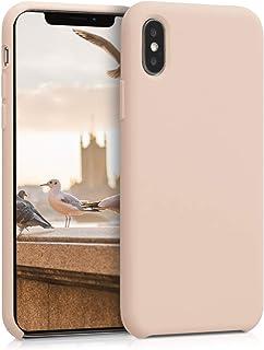 kwmobile telefoonhoesje compatibel met Apple iPhone X - Hoesje met siliconen coating - Smartphone case in parelmoer