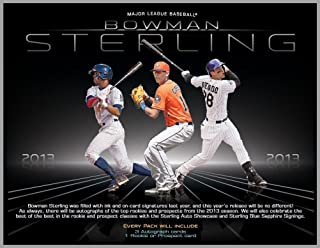 2013 Bowman Sterling Baseball Hobby Box (18 Autographs per box - 3 In Every Pack)