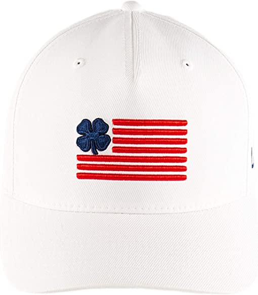 Navy Clover/Red Trim/White