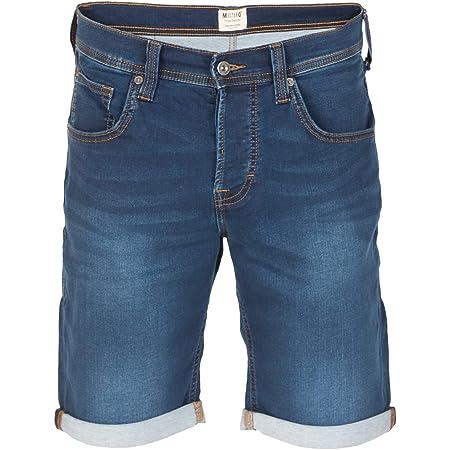 MUSTANG Herren Jeans Shorts Chicago Real X Kurze Hose Sommer Bermuda Stretch Sweathose Baumwolle Grau Blau w30 - w42, Größe:W 40, Farbe:Denim Mid Blue (682)
