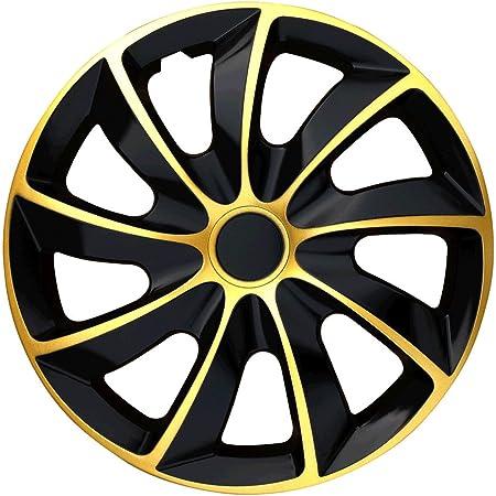 Radzierblende Extra Strong Gold Schwarz 15 Zoll 4er Set Auto