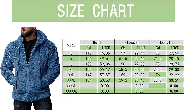Beppter Men's Fuzzy Hooded Jackets Full Zipper Fluffy Fleece Hoodies Outwears Tops Warm Thicken Sweatershirts Blouse